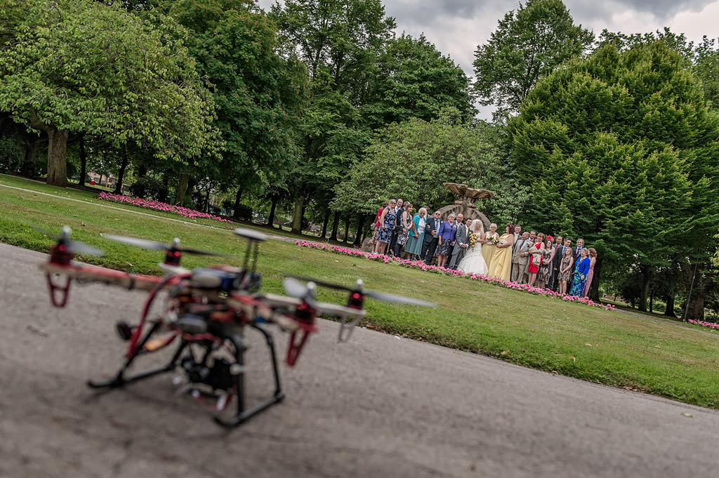 Drone wedding photography Yorkshire