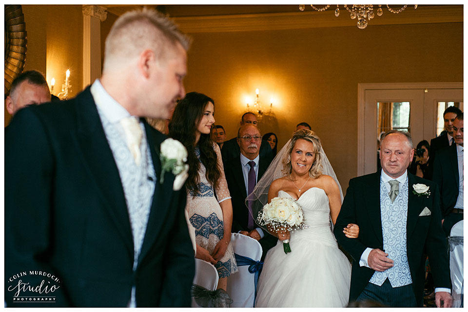 Aldwark Manor wedding ceremony