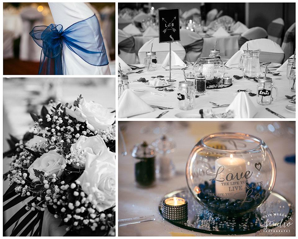 Aldwark Manor wedding decorations