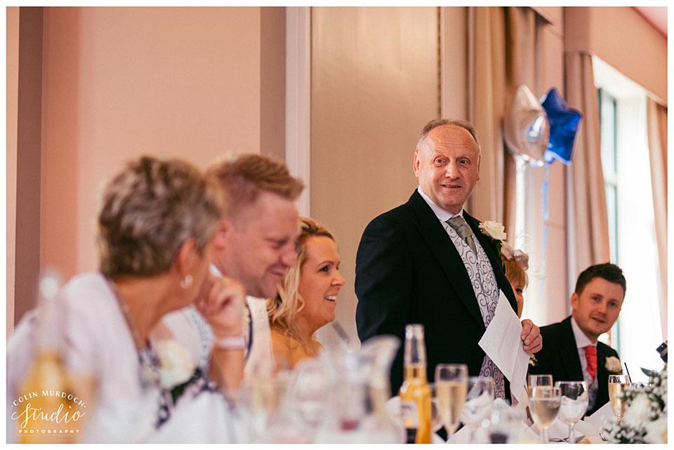 Wedding speeches at Aldwark Manor in Yorkshire