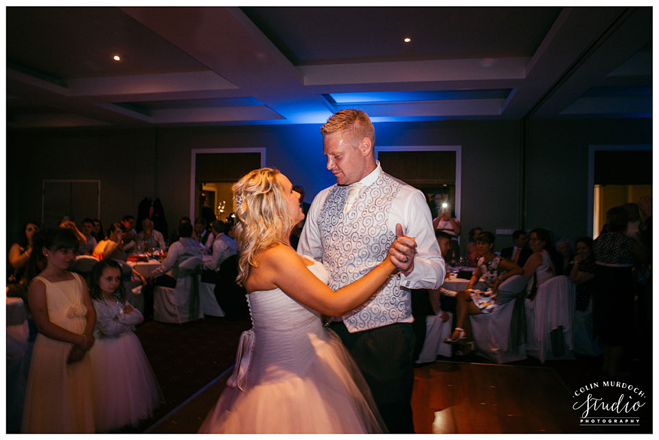 First dance at a wedding at Aldwark Manor in Yorkshire