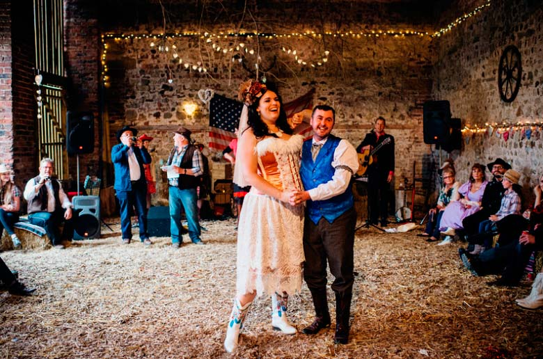 Western themed wedding in Yorkshire