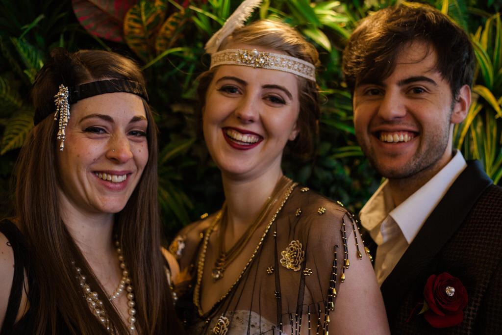 Art deco wedding at Qubana in Wakefield