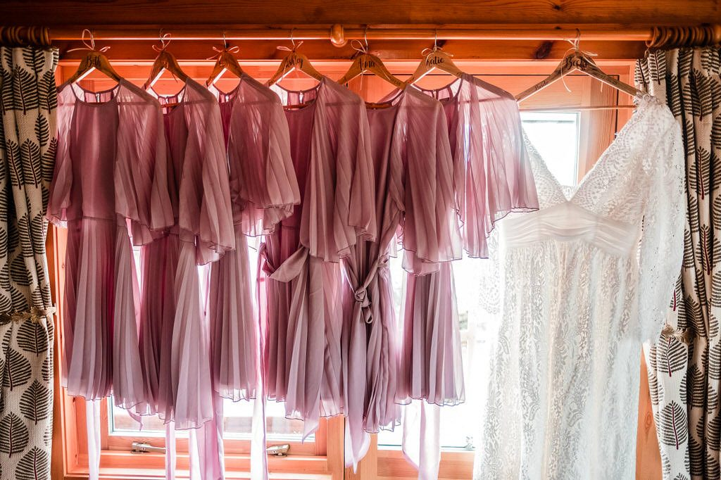 Bride and nridesmaids dresses