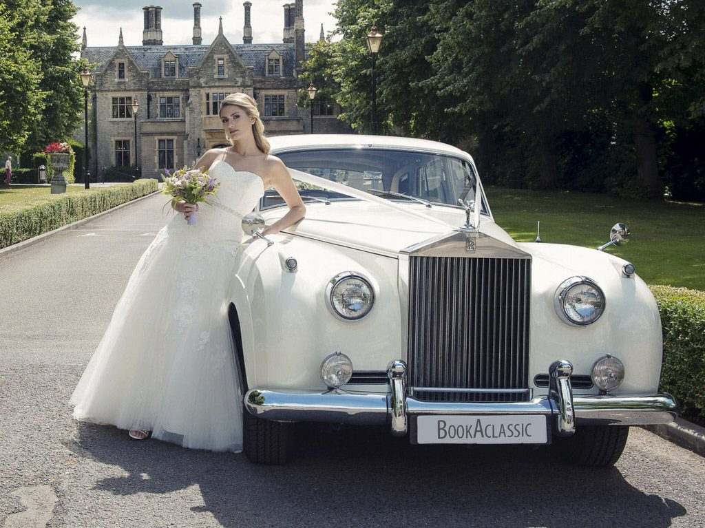 Rolls Royce silver wedding car