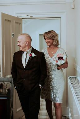 Bride and groom at York Registry Office